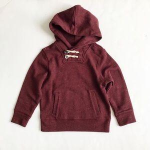 BABygap wine speckled hooded sweatshirt EUC 5T